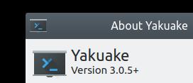 Novo ícone Yakuake que parece uma sombra