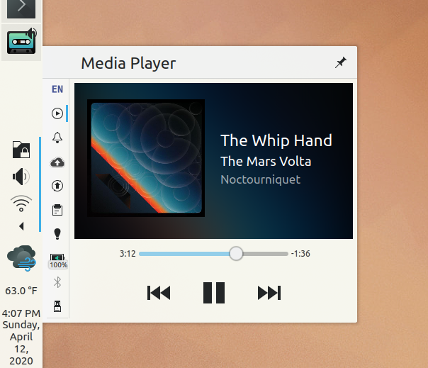 New Media Player applet appearance