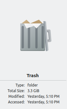 Information about the trash