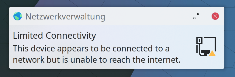 Limited Connectivity Notification