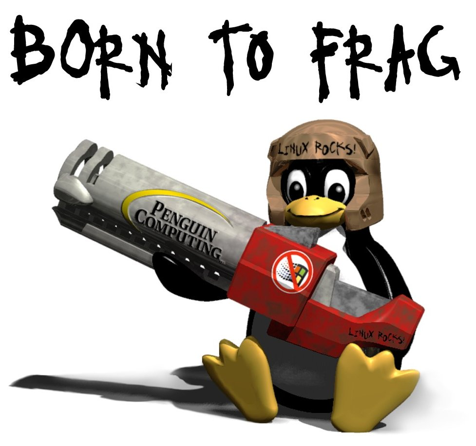 Tux with rocket launcher, taken from https://commons.wikimedia.org/wiki/File:Tux_Born_to_Frag.jpg